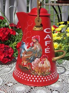 Vintage Coffee Pot...handpainted so beautifully!