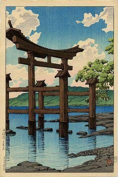 Gozanoishi Shrine at Lake Tazawa - 1926 Kawase Hasui (1883-1957)