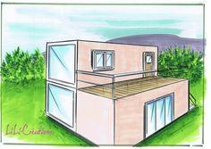 C'est une des plus petites maisons de ce blog puisqu'elle fait 41m² sur 2 étages. Le rez-de-chaussée composé de deux containers de 6m a une surface de 28m² et l'étage fait 14m². L'escalier qui mène au premier est à l'extérieur pour ne pas encombrer le...