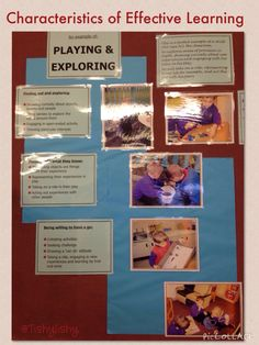 Characteristics of Effective Learning - Playing and exploring. This is displayed in our FS1 class.