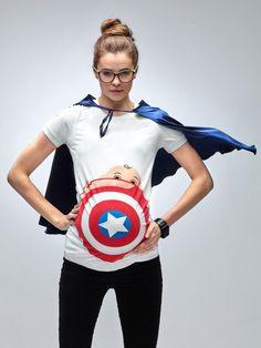 My Superhero Maternity New Captain America T-Shirt by Mamagama Pregnancy Store by Mamagamaworld on Etsy https://www.etsy.com/listing/232483846/my-superhero-maternity-new-captain