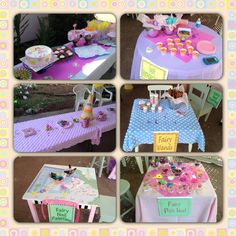 Fairy Birthday party - stations for the little girls