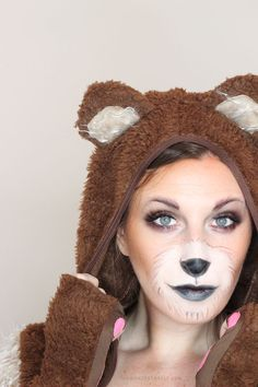 Cute Bear Makeup Tutorial for Halloween | Wonder Forest: Design Your Life. // Pin Now Watch Later - I hope it includes the look on her eyes, lovely!