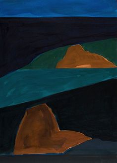 Lee Hall, Aegean Dusk 1986, Acrylic on Paper