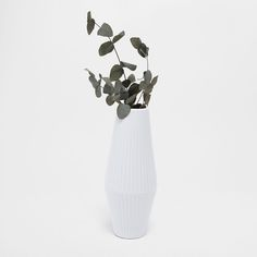 Image 1 of the product WHITE STRIPED CERAMIC VASE