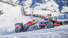 Un max de neige pour la Red Bull de Verstappen !