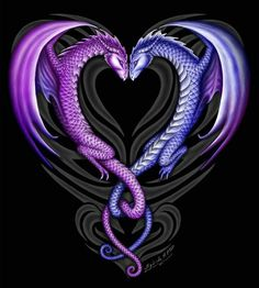 Dragons couples tattoo Beautiful picture. Incensewoman I want this! Except I want mine Pink or something and my husband will get blue