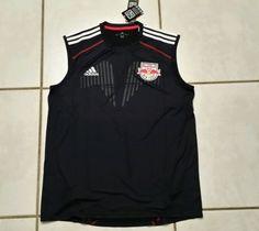 NWT ADIDAS New York Red Bulls MLS Sleeveless Training Jersey Men's Large