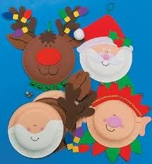 Christmas crafts with paper plates