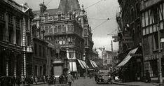 Upper Wind Street showing the Ben Evans Store (centre) destroyed in the Blitz of 1941 The Blitz, Cymru, Swansea, Welsh, Tat, 1920s, Evans, Centre, Nostalgia