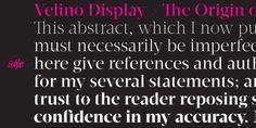 Velino Display Font DOWNLOAD