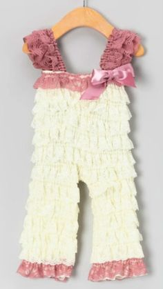 """These adorable ruffled jumpers are at Zulily.com. Great inspiration to make one for American Girl 18"""" Dolls."""