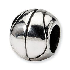 Reflection Beads Sterling Silver Basketball Bead