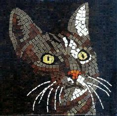 Cats in Art: Mosaic Cat - Mosaik Katze - Mosaique Chat - Micro Ceramic Tiles - Kit Alea Mosaik Mosaic Crafts, Mosaic Projects, Stained Glass Patterns, Mosaic Patterns, Art Patterns, Mosaic Glass, Glass Art, Mosaic Kits, Paintings