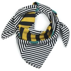 Pretty Persuasions Stripe Border Silk Scarf ($29) ❤ liked on Polyvore featuring accessories, scarves, black multi, silk shawl, silk scarves, square scarves, striped shawl and striped scarves