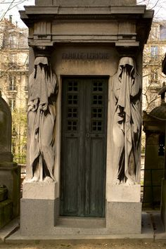 Paris - Pere Lachaise Cemetery;  -the Grim Reaper, is Death with a capital D. He is perhaps the most recognized entity of all time, neither ghost nor god; the Grim Reaper is a psychopomp who's job is to conduct the souls of the recently dead into the afterlife... some accounts say he just touches the person to pop their soul so they don't feel pain when they die. -  http://www.urbandictionary.com/define.php?term=Grim+Reaper