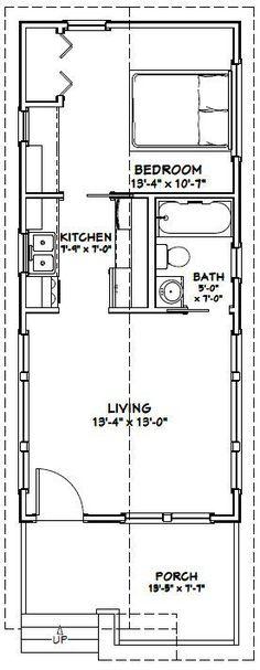 14x32 Tiny House -- #14X32H1C -- 447 sq ft - Excellent Floor Plans