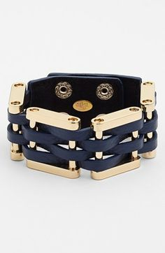 Cara Woven Leather Bracelet available at #Nordstrom