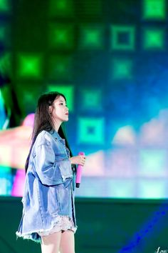 180512 Dew Live Festival IU jikjjik by Louis Fandom Kpop, K Pop Star, Iu Fashion, Fashion Dresses, Korean Celebrities, Hyuna, Korean Actresses, Korean Outfits, Kakao