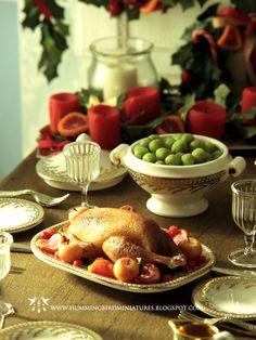 Roast Goose Christmas dinner by Hummingbird Miniatures