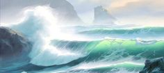 How to paint a breaking ocean wave, oil painting tutorial