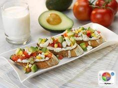 Avocado Breakfast Bruschetta WhatsCooking.usda.gov #veggies #grains #protein #MyPlate