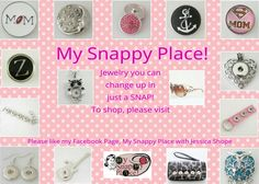 Browse our new and innovative selection of Snap Jewelry! So many items to choose from. A snap to match any style! Please visit http://www.mysnappyplace.com/#_l_8x to shop!  #jewerly #snap #owl #bracelets #wallet #earrings #sunglasses #hearts link in the comments!