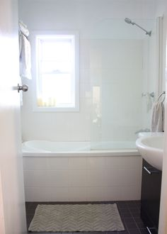 Tiny bathroom remodel. Shower over tub - cons - no shower screen (wet room ?)
