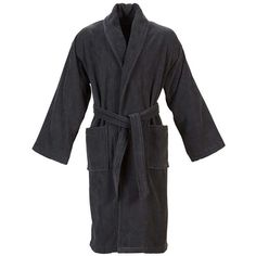 Christy Supreme Velour Robe - Graphite (125 CAD) ❤ liked on Polyvore  featuring intimates 4e2755180