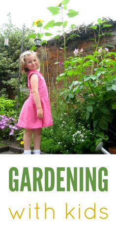 Lots of great ideas for gardening with kids... Plus cool garden crafts!