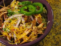slow cooker chicken and rice bowls