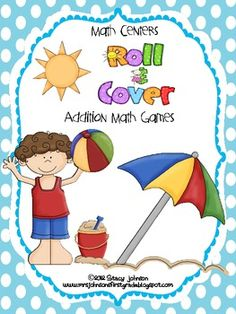 Free Beach Themed Math Center Games for First Grade