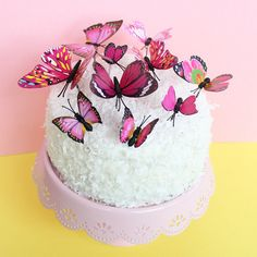Our gorgeous Butterfly Cake Topper will make cake decorating a breeze! No need for an expensive designer cake. Our Butterflies have a beautiful realistic desig Raspberry Smoothie, Apple Smoothies, Butterfly Cakes, Butterflies, Butterfly Birthday, Butterfly Party, Buckwheat Cake, Cold Cake, Zucchini Cake