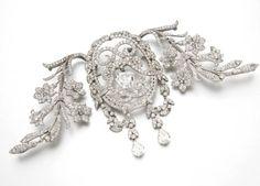 A FINE BELLE EPOQUE DIAMOND CORSAGE ORNAMENT, BY CHAUMET