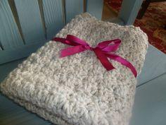 Baby Chunky Crochet Blanket Newborn Photo Prop in by onajeans