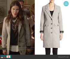 Laurel's grey coat on How to Get Away with Murder.  Outfit Details: http://wornontv.net/53453/ #HTGAWM