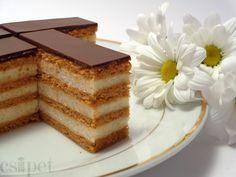 Hungarian Cookies, Hungarian Cake, Hungarian Recipes, Salty Foods, Salty Snacks, Sweet Cookies, Cake Bars, Wedding Desserts, Sweet And Salty