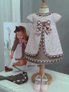 Vestido piqué/lino Primavera/Verano'12 - Vestidos para niñas                                                                                                                                                                                 Más