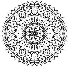 Mandala Art Lesson, Mandala Painting, Mandala Drawing, Dot Painting, Mandala Coloring Pages, Colouring Pages, Coloring Books, Easy Doodle Art, Doodle Art Drawing