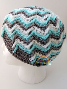 Cute and Cool Winter Offshore Crochet Hat Beanie by BrightCrochet, $31.00