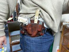 Custom leather holster - Colt Mustang. 380