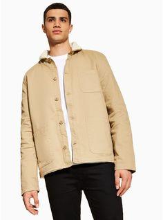 7ed8c14f555 ANTIOCH Beige Twill Jacket  - Shop All Sale- TOPMAN