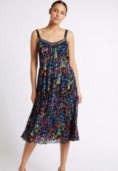 LADIES EX DOROTHY PERKINS BLACK ORANGE YELLOW MULTI PRINT SUMMER MAXI DRESS 8-20