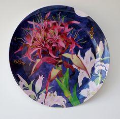 New product in: Gymea lily melamine platter: 33cm diameter - prefect for summer barbeques!  http://gabbymalpas.com/product-category/homewares/melamine-platter/