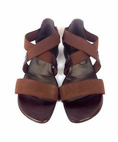 Stuart Weitzman Shoes Leather Mesh Brow Open Toe Strapp Sandals Resort Womens 10 | eBay