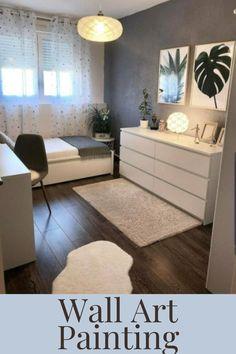Small Room Bedroom, Room Ideas Bedroom, Home Bedroom, Bedroom Apartment, Bedroom Furniture, Small Bedroom Ideas For Teens, Master Bedroom, Scandi Bedroom, Small Bedroom Designs