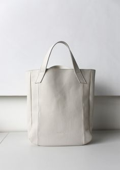 cream leather bag