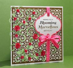 FREE SVG + cut files card this example is set up as a birthday card but the sentiment is up to you blooming1