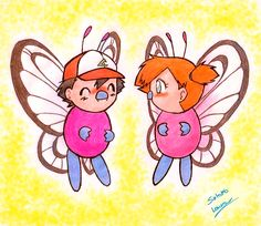Ash and Misty as Butterfree by LauraPaladiknight.deviantart.com on @DeviantArt