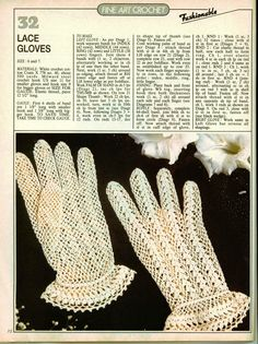 Crochet Gloves Free Pattern
